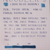 Noodler's Bad Blue Heron